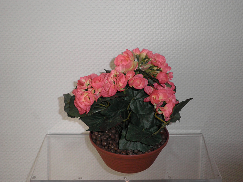 Coupe artificielle fleurs rose/orange