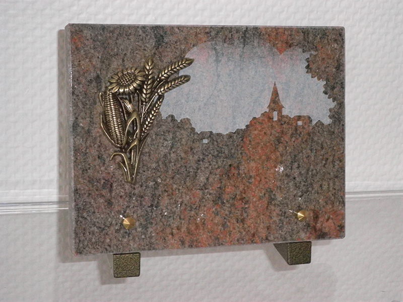 Plaque Granit Brune bronze Epi/Tournesol 20X15