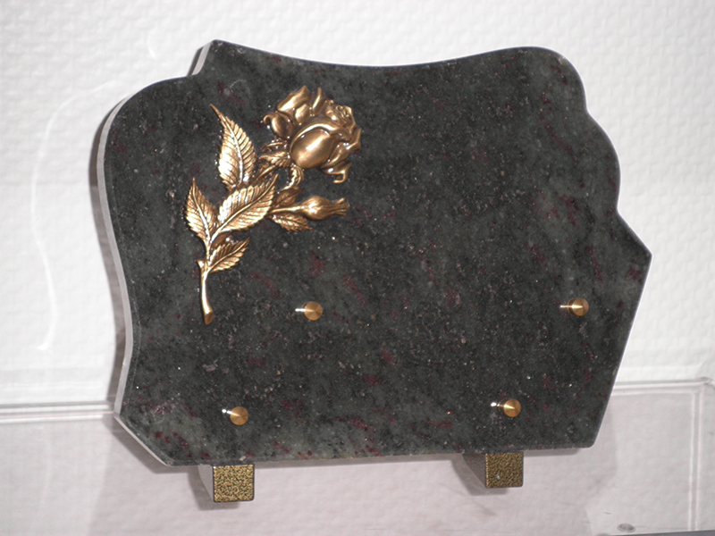 Plaque Granit VERTE Bronze rose 25X17