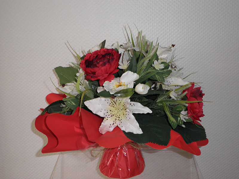 Bouquet Bulle Rouges et blanc